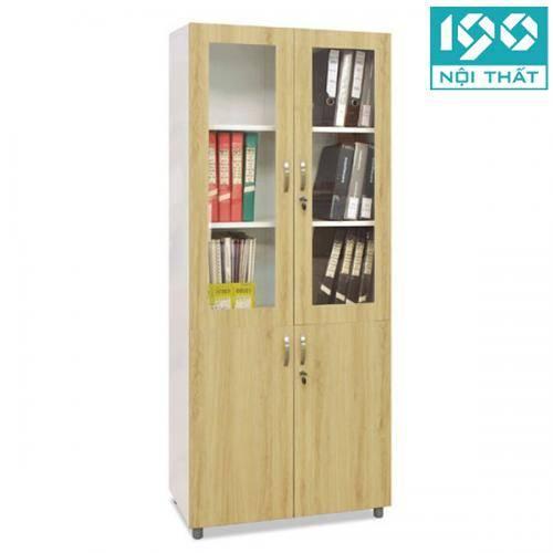 Tủ sắt cánh gỗ hồ sơ TSG04K-2 kiểu dáng chuẩn mọi văn phòng