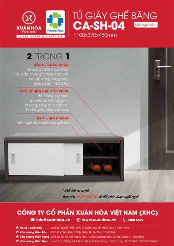 Tủ để giày đẹp giá rẻ CA-SH-04 Xuân Hòa